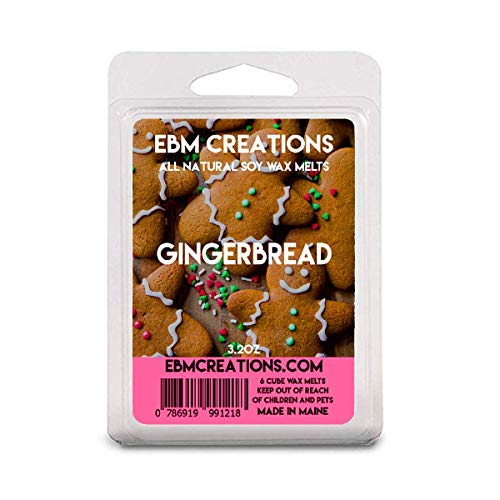 Gingerbread - Scented All Natural Soy Wax Melts - 6 Cube Clamshell 3.2oz Highly Scented!