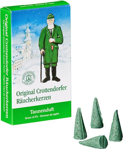 Crottendorfer Fir/Pine Scented Incense Cones, Pack of 24, Made in Germany Man Incense Smoker