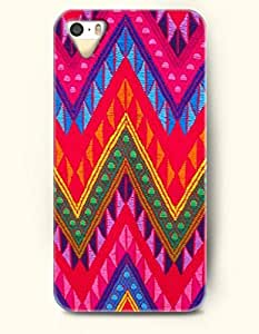 OOFIT Aztec Indian Chevron Zigzag Native American Pattern Hard Case for Apple iPhone 5 5S ( iPhone 5C Excluded ) ( Beautiful Chevron Fabric Pattern )