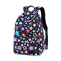 Backpack for Girls and Boys, School Backpack Stylish Casual Travel Daypack Canvas College Student Bag Fits 15 Inch Laptop