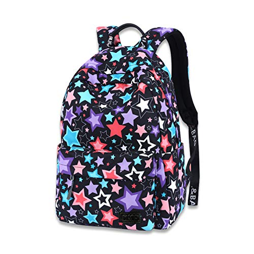 School Backpack for Boys Girls,Perfect Fit Kids Elementary School Teenage Junior Middle School Bookbag Student Stylish Canvas Travel Laptop Book Bag(5-16 years old)