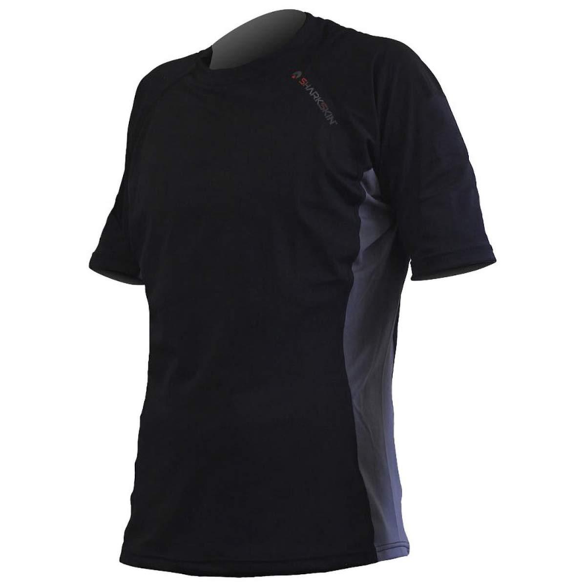 Sharkskin Rapid Dry Short Sleeve Shirt, Black, 3X-Large by Sharkskin