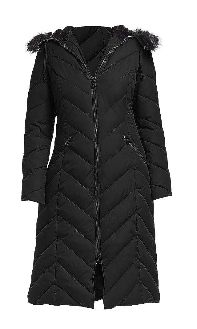 Laundry by Shelli Segal Womens Black Down Maxi Coat