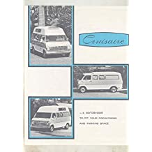 1969 Ford Econoline Van Cruisaire Camper Motorhome RV Brochure Gardena