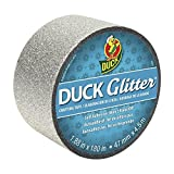 Duck Brand Glitter Crafting Tape, 1.88-Inch x 5-Yard Roll, Silver (282492)