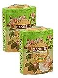 Basilur | Cream Fantasy Green Tea | Ultra- Premium Ceylon Green Loose Tea | Natural Papaya, Amaranth, Strawberry, Cream | 100g (3.52 oz.) Tin Caddy | Pack of 2 Review