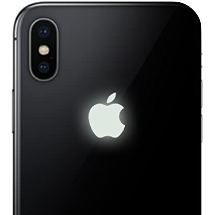 best service 4aec2 b4775 iPhone X Glow in the Dark Apple Color Changer Decal - Vinyl Decal Sticker  for Phone
