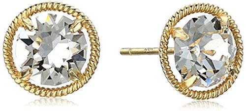 Swarovski Crystal Birthstone Dainty Earrings