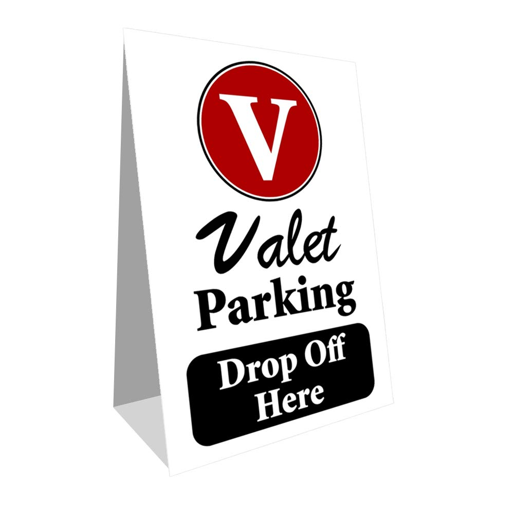 Amazon.com: Señal de aparcamiento de valet Drop Off Economy ...