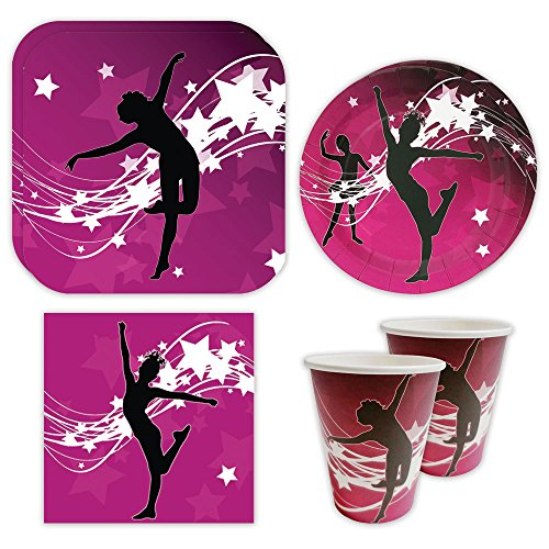 Dance Standard Party Packs (For 16 Guests), Dance Party Supplies for Birthday Decorations, Dance Competitions, Disco Parties, Pageants and Much More!