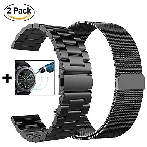 fa06348049d V-MORO Metal and Milanese Bands Compatible with Galaxy Watch 46mm Gear S3  Frontier