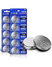 LiCB 10 stuks CR2450 3V lithium knoopcellen CR 2450 batterijen