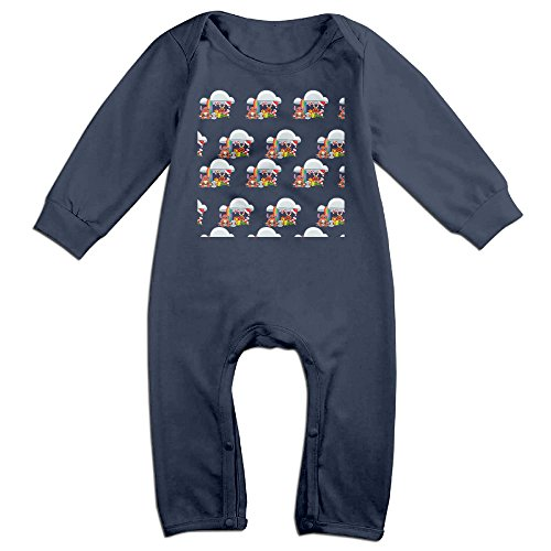[VanillaBubble Stitch And Christmas For 6-24 Months Baby Geek Tee Shirt Navy Size 12 Months] (Barney Infant Costumes)