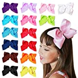 15 pc 6in Boutique Hair Bows Clips for Baby Girls Kids Teens Women Educational Toy or Gift Crafts
