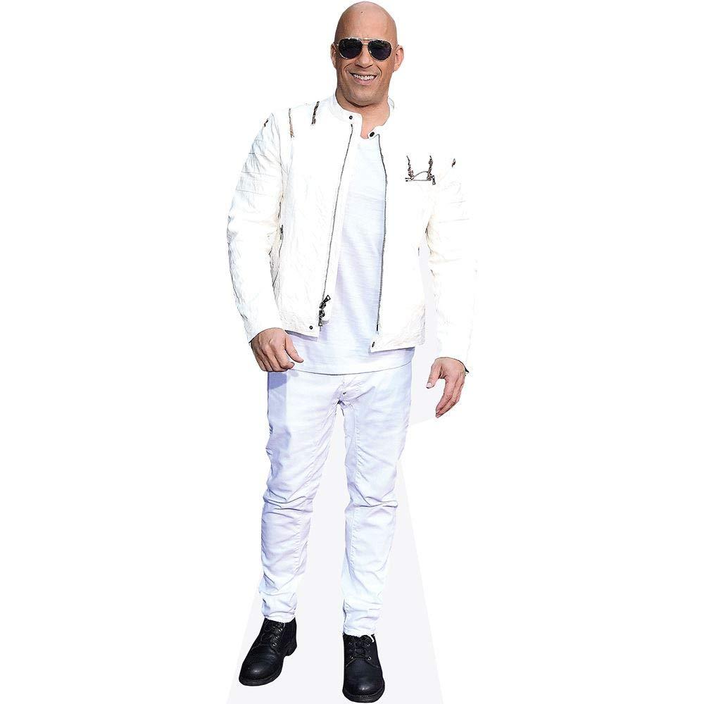 Vin Diesel Life Size Cutout White Jacket