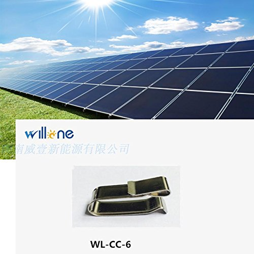 Willone 1000pcs/lot WL-CC-6 stainless steel solar cable clips ,cable clamp mounting installation by Willone