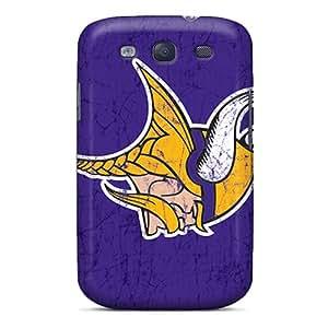 AlissaDubois Samsung Galaxy S3 Shockproof Phone Cover Customized Nice Minnesota Vikings Image [zkw7049YNpF]