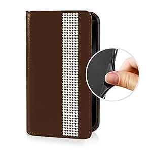 eSPee SZ3cBo057 de piel sintética con tapa con ribete, de silicona y cierre magnético para Sony Xperia Z3 compact marrón