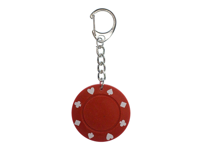 Miniblings Jeton llaveros Cadena dominante del Anillo Poker ...