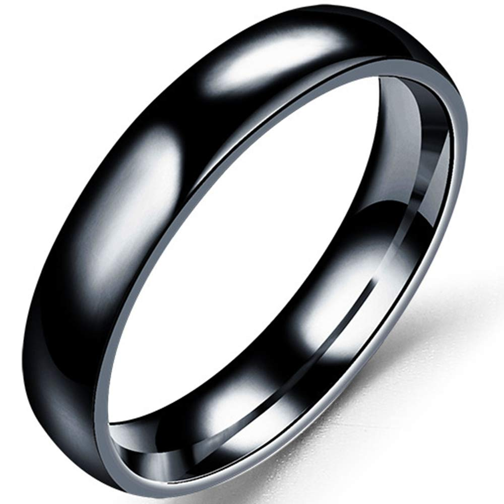 Jude Jewelers 4mm Stainless Steel Classical Simple Plain Dome Style Wedding Band Ring
