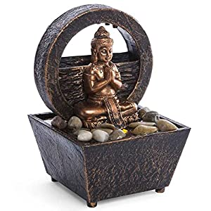 Tranquil Buddha Tabletop LED Fountain