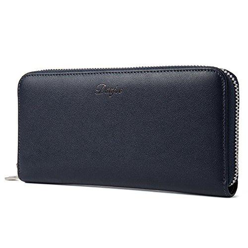 cowhide men's fashion clutch layer bag handbag first DANJUE Blue D1008 qESRR