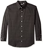 Van Heusen Men's Big and Tall Traveler Button Down Long Sleeve Stretch Black/Khaki/Grey Shirt, Classic, 3X-Large