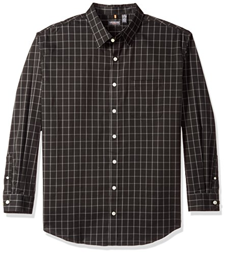 Classic Look Classic Blazer - Van Heusen Men's Big and Tall Traveler Button Down Long Sleeve Stretch Black/Khaki/Grey Shirt, Classic, 3X-Large