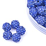 iCherry(TM) 10mm 100pcs/Lot Roral Blue Clay Pave Disco Ball for Rhinestone Crystal Shamballa Beads Charms Jewelry Makings