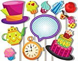 The Mad Hatter- Tea Party Photo Booth Props Kit - 20 Pack Party Camera Props - Fully Assembled