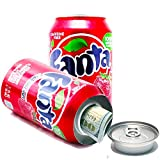 Fanta Strawberry Flavored Soda Cola Diversion Safe Can Stash Cash Money Jewellery Keys Secret Compartment Pop Can Red, Includes an Exclusive WeNeedBongs(TM) Scoop Card