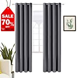 WarmHarbor Thermal Insulated Blackout Curtains ❤️for Living Room and Bedroom, ❤️2 Panels (52x95 in, Dark Grey)