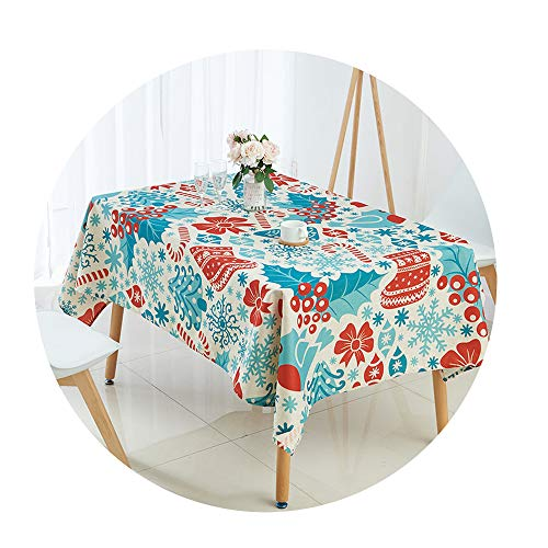 COOCOl Great Tablecloth for Table Christmas Tablecloth Elk Snowman Tree Table Cloth Table Cover Nappe Table,R,100X140Cm (Decor Patio Wall Pinterest)
