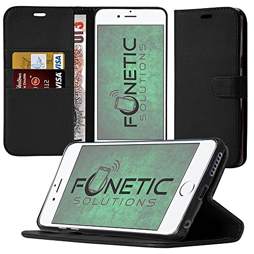 (Black) Samsung Galaxy J7 Pro Case Wallet Case Cover With Card Holder -  Fonetic Solutions