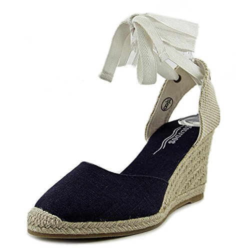 Soludos Tall Wedge Lona Sandalia
