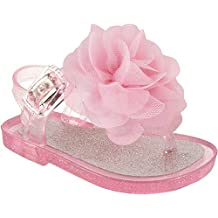 Wee Kids Baby-Girls Sandals Jelly Shoes (Infant Shoes Baby Shoes) Girls Summer Sandals Sparkle Glitter