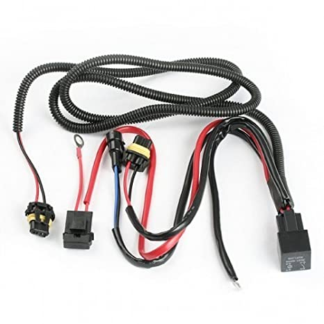 519TWthI2iL._SX466_ amazon com 9006 hb4 premium hid xenon kit wiring relay harness h11 wiring harness autozone at gsmx.co