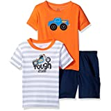 Gerber Boys' 3 Playwear Set 2/Shirts 1/ Woven Short, Truck, 18 Months