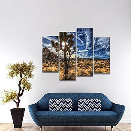 ArtWall Dean Uhlinger 4 Piece La Jolla Twilight Gallery-Wrapped Canvas Set 36 by 48