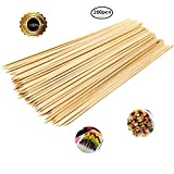 ZMLin Bamboo Skewers sticks, Premium Natural BBQ Skewers Kabobs Fruit Skewer Sticks Marshmallow Roasting Sticks Perfect for Party Weddings BBQ Outdoor Indoor Grill - 12'' 200pcs