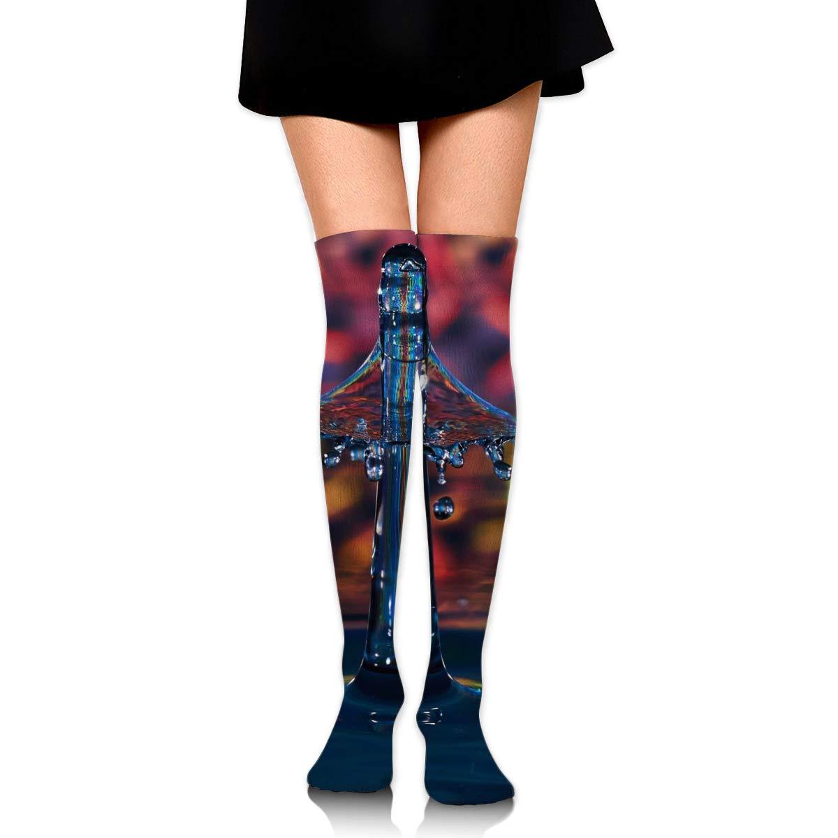High Elasticity Girl Cotton Knee High Socks Uniform Splashed Watre Women Tube Socks
