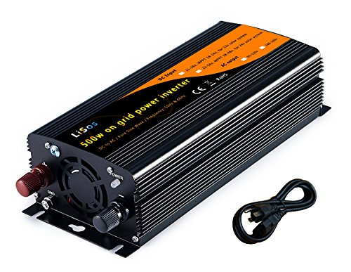 Solar Tie - LiSos 500w Solar Grid Tie Power Inverter Pure Sine Wave DC11-28v to AC90-130v V1