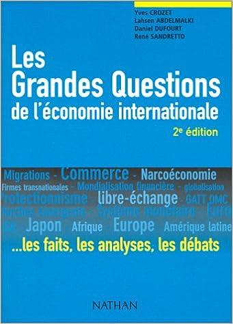 Livre Les Grandes Questions de l'économie internationale. pdf