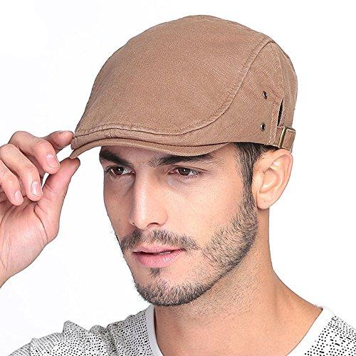 VEC Brand Women's Men's Cotton Flat Cap Ivy Gatsby Newsboy Hunting Hat ()