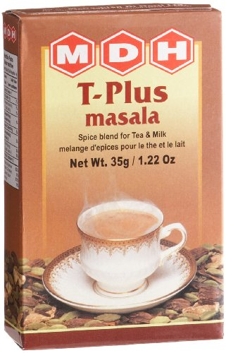 MDH T-Plus Masala (Spice Blend for Tea & Milk), 1.22-Ounce Boxes (Pack of 10)