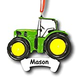 JOHN DEERE Personalized Tractor Christmas Ornament - Custom Name
