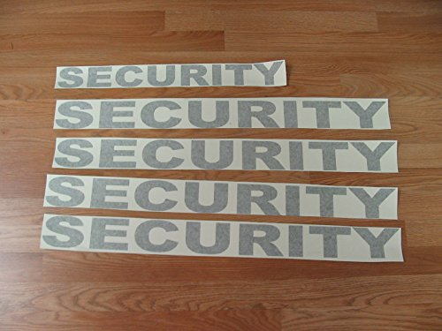 Black Security Decal Set Kit 5 Huge Stickers Lot 4 Car Truck SUV Van Golf Cart