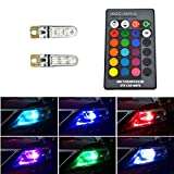 506 led bulb - PNS - LED Atmosphere Lights 6SMD 5050 LED T10 RGB Bulbs with Remote Controller for Car Wedge Side Light