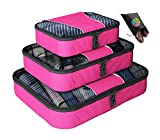 Packing Cubes - 4 pc Value Set Luggage Organizer + Bonus Shoe Bag Included - Lifetime Guarantee - By Bingonia Travel Accessories