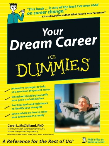 10168f838f5 Amazon.com  Your Dream Career For Dummies eBook  Carol L. McClelland ...